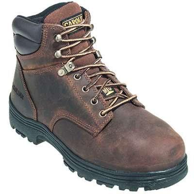 Carolina Boots: Men's CA3527 Brown Steel TOE Internal Met Guard EH Work Boots