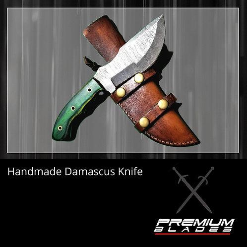 Custom Handmade Damascus Steel Tracker Hunting Knife