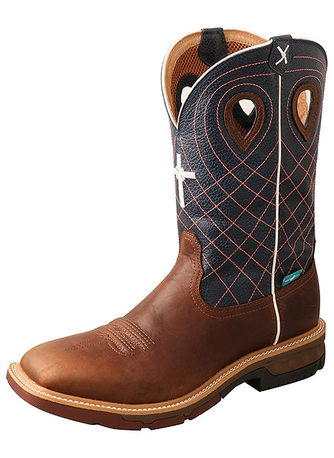 Men's 12″ Alloy Toe Western Work Boot with CellStretch® – WP