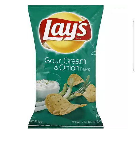 Lays Sour Cream and Onion Chips - Family Size
