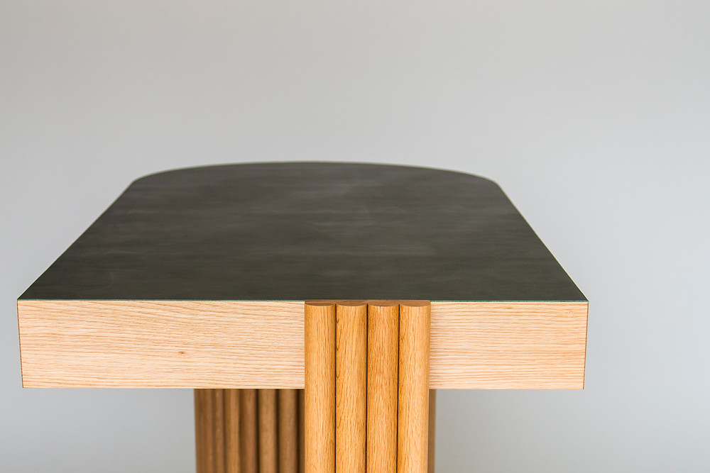 top of Modern desk in the Brutalist architecture style