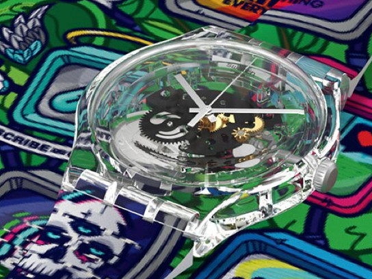 Seattle Artist Jared K. Nickerson Creates Exclusive Designs for Swatch