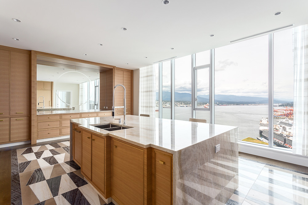 Waterfront penthouse in Coal Harbour, Vancouver, BC. Interior Design by Karin Bohn, House of Bohn.