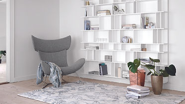 BoConcept Bellevue Imola chair and como shelving