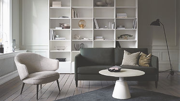 BoConcept Bellevue Charlotte living chair and Indivi loveseat