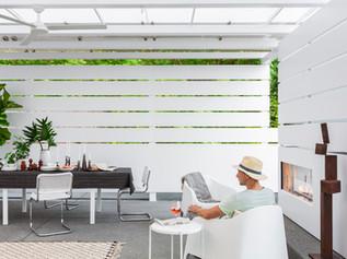 A Modern Backyard Pavilion Built for All Seasons