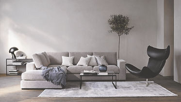 BoConcept Bellevue Cenova sofa and Iola living chair