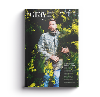 GRAY magazine cover Vanguards of Design featuring florist, designer, restaurateur, and environmentalist Joost Bakker