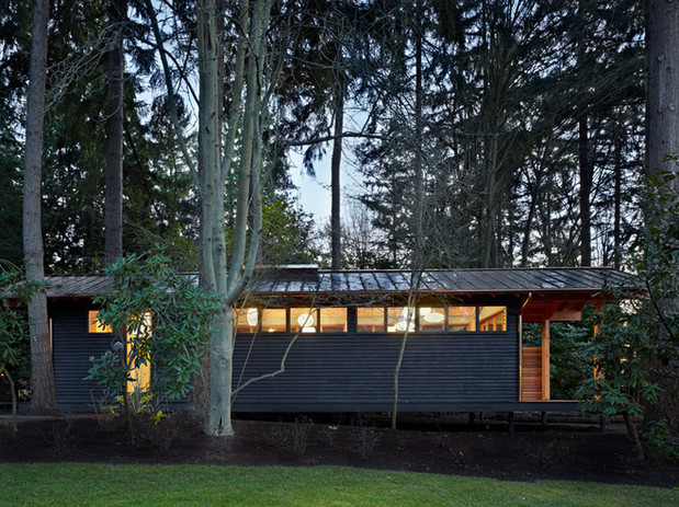 SHKS ARCHITECTS. cabin in woods
