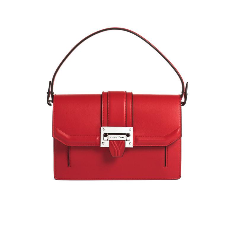 Kacy Yom red handbag