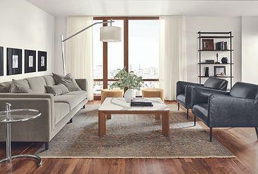 Room&Board Pren coffee table with Cambria quartz top