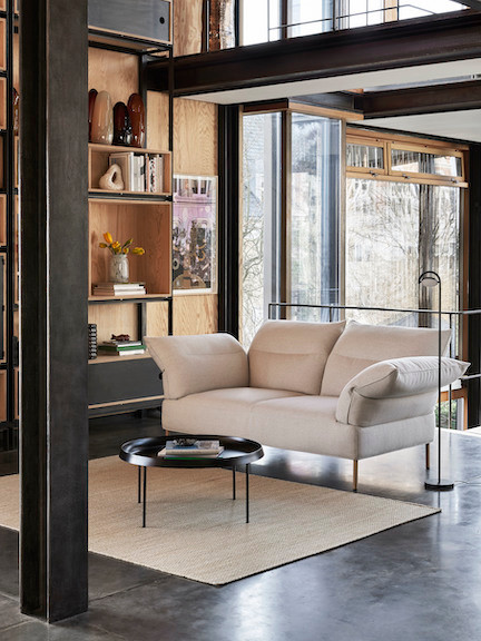 HAY Pandarine sofa in living room setting