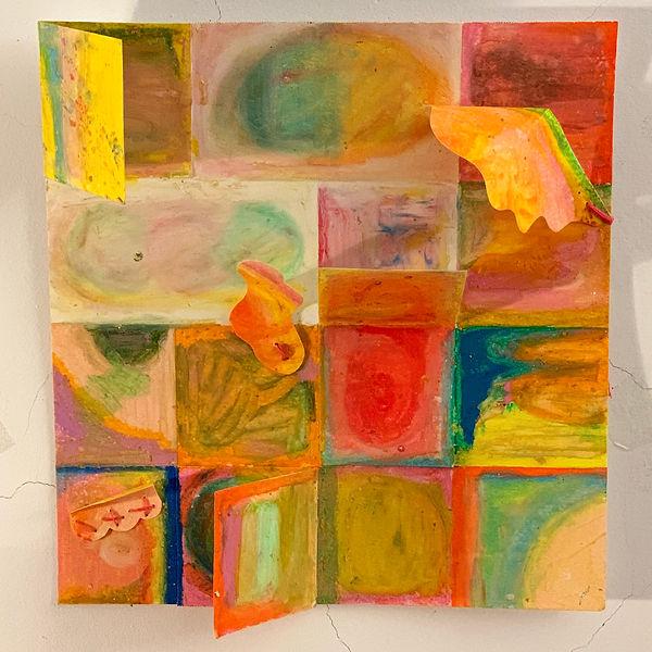 Ingrid Lu_oil pastel on paper, thread_ 7