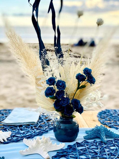 Dried floral beach theme