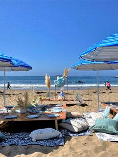 Beach setup for 30 guest