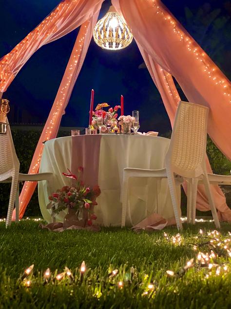 Intimate Dinner under the stars