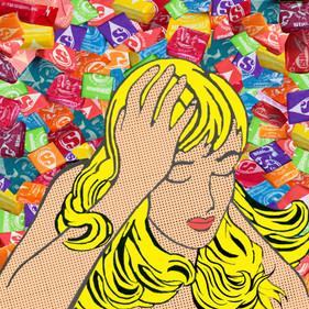 Strawberry Starburst visual art