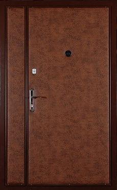 Дешевая тамбурная входная дверь с отделкой из кожзаменителя