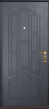 Дверь с отделкой антивандальным порошковым покрытием  и мдф накладкой венге