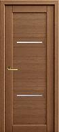 Элитная железная дверь с двумя декоративными стеклянными вставками