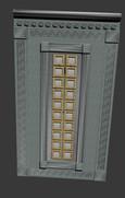 Входная металлическая парадная дверь в античном стиле