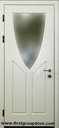 Дверь входная металлическая с зеркалом МДФ