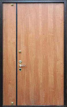Тамбурная дверь с отделкой ламинат