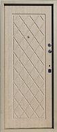 Железная входная дверь с простым рисунком на МДФ  накладке