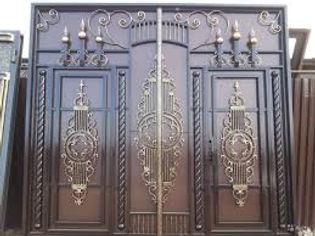 Эксклюзивные распашные ворота с ковкой