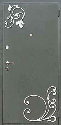 Синяя входная дверь с порошковой окраской недорого | купить | Москва