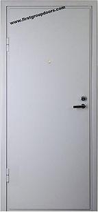 Двери технические железные