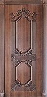 Дверь входная с резьбой в классическом стиле