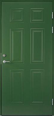 Элитная входная металлическая дверь с росписью синяя