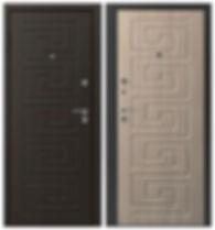 Дверь металлическая с отделкой дверными накладками химки
