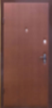 Дешевый вариант отделки входной металлической двери.