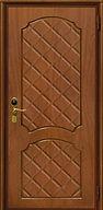 Дверь металлическая с глянцевой отделкой зебрано