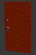 Сочетание цветов дверь лофт (красная)