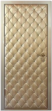 дверь с дизайнерской отделкой кожей