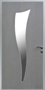 Дверь входная металлическая с зеркалом