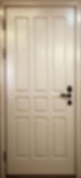 Дверь с отделкой МДФ накладкой Белое дерево ФГ-ЛТ+2-03