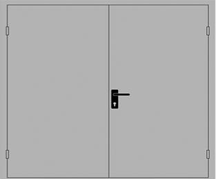 Двухстворчатая противопожарная дверь