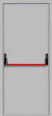 Дверь противопожарная стальная с системой антипаника