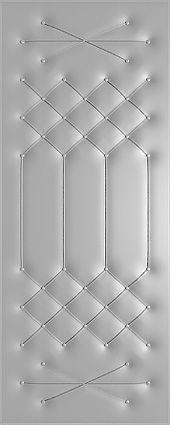 рисунок пуговицами на винилискоже для металлических дверей