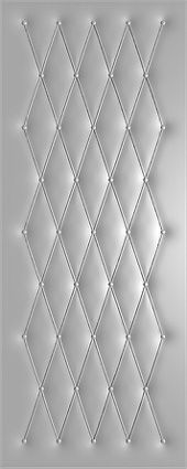рисунок на дермантине пуговицами на стальных дверях