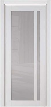 Железная входная дверь глянцевая, дверь со стеклом входная