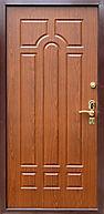 Дешевая железная входная дверь с отделкой МДФ накладкой