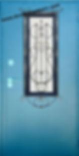 Дверь металлическая с ковкой и стеклом в Реутов
