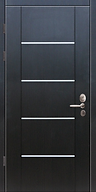 Дверь с венге с горизонтальными молдингами