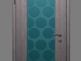 Входная дизайнерская дверь с яркой отделкой «Круги»