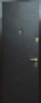 Дверь с отделкой дермантином черная